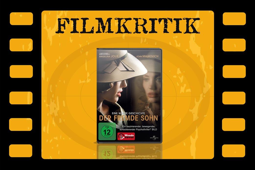 Filmkritik Der fremde Sohn mit DVD Cover in Filmstreifen