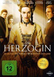 DVD Cover Die Herzogin mit Keira Knightley und Ralph Fiennes