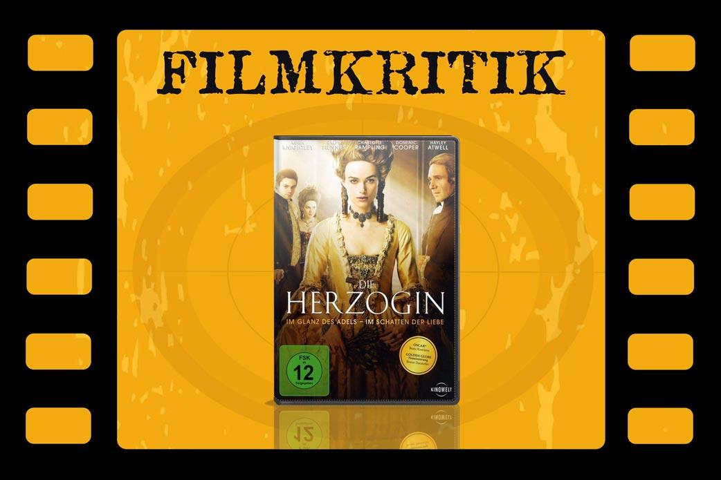 Filmkritik Die Herzogin mit DVD Cover in Filmstreifen