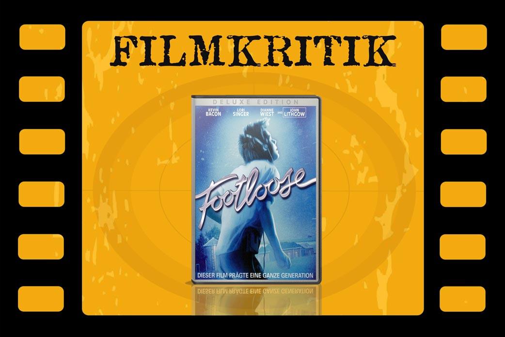 Filmkritik Footloose mit DVD Cover in Filmstreifen