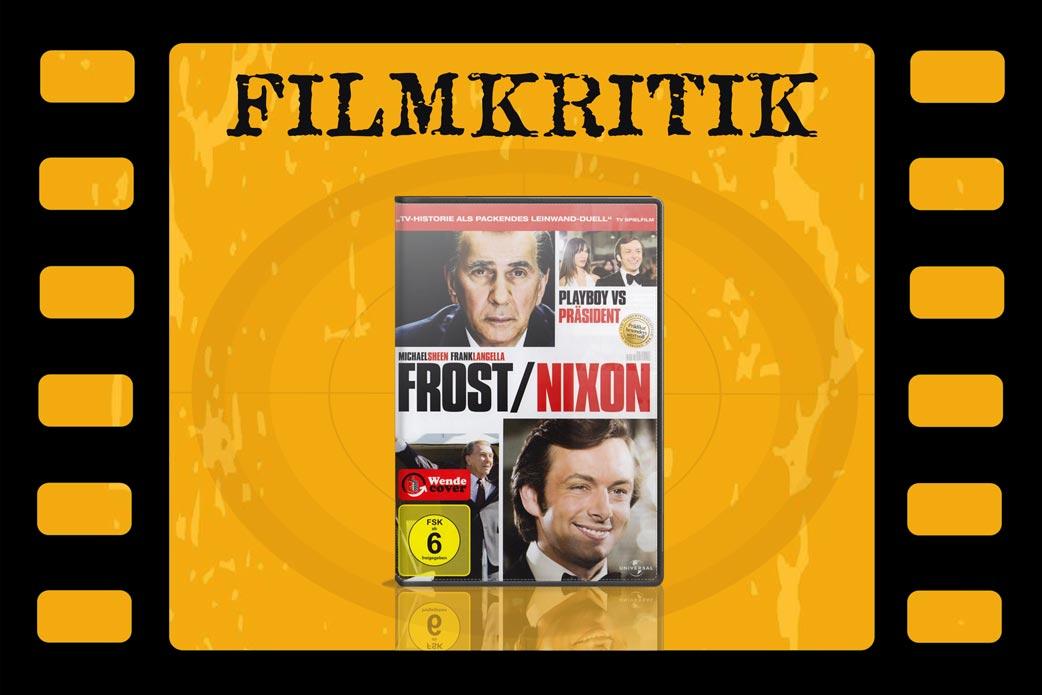 Filmkritik Frost/Nixon mit DVD Cover in Filmstreifen