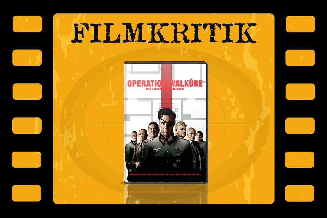Filmkritik Operation Walküre mit DVD Cover in Filmstreifen