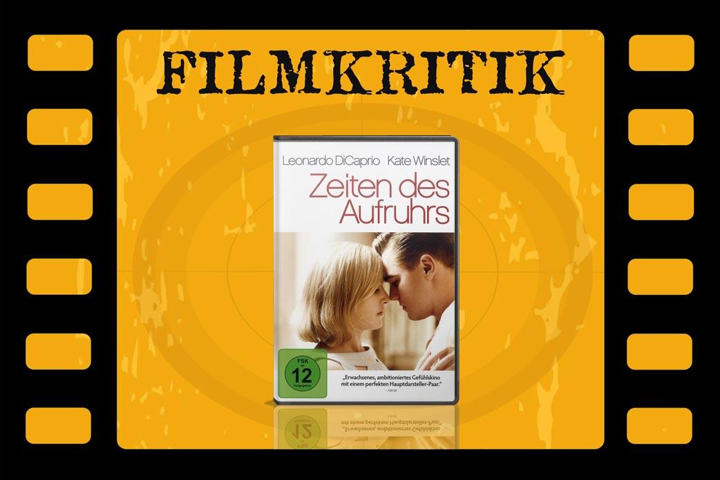 Filmkritik Zeiten des Aufruhrs mit DVD Cover in Filmstreifen