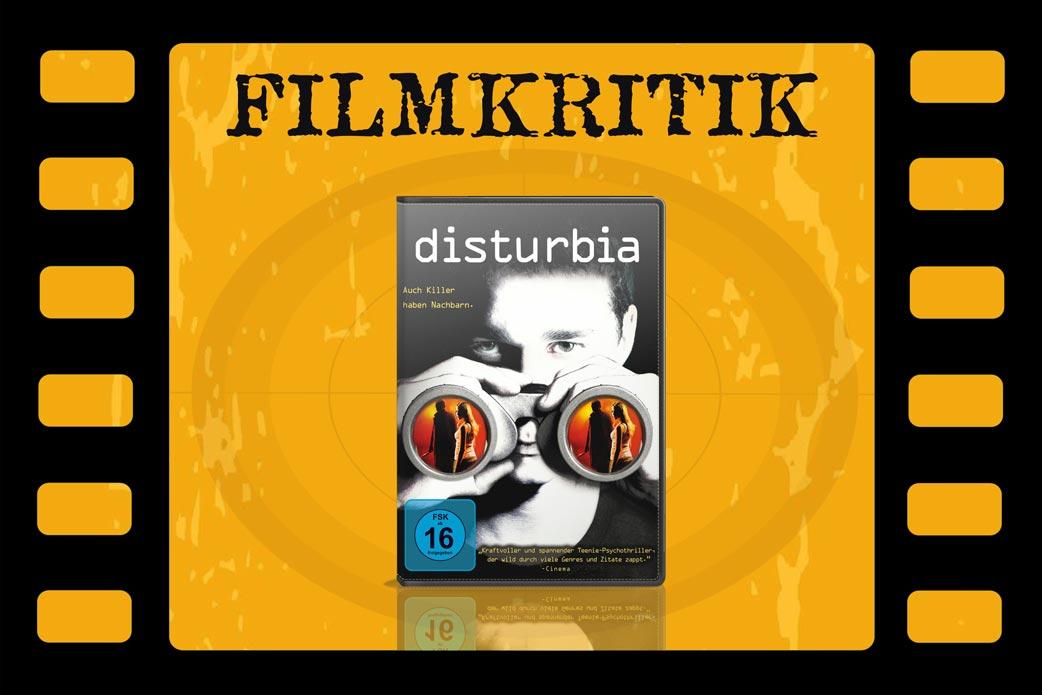 Filmkritik Disturbia mit DVD Cover in Filmstreifen