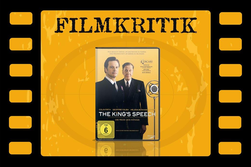 Filmkritik The King's Speech mit DVD Cover in Filmstreifen