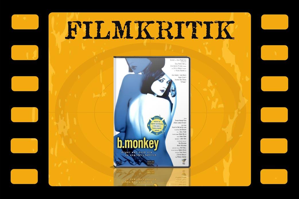 Filmkritik B. Monkey mit DVD Cover in Filmrolle