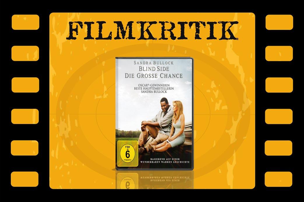 Filmkritik zu Blind Side mit DVD Cover in Filmrolle
