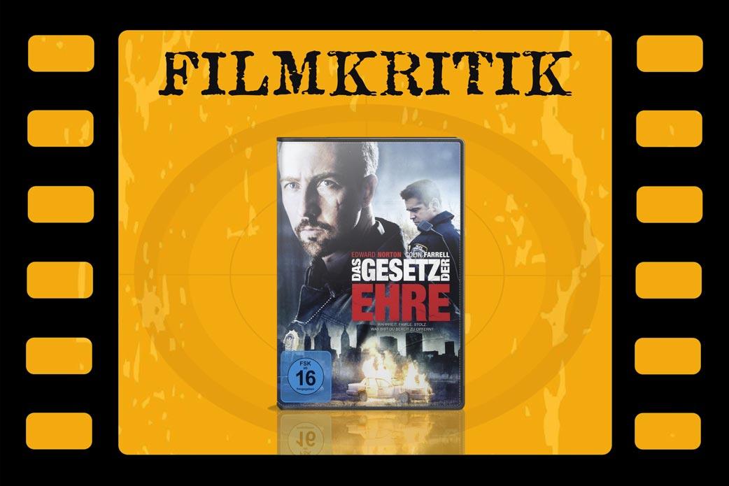 Filmkritik Das Gesetz der Ehre mit DVD Cover in Filmrolle