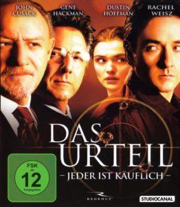 DVD Cover Das Urteil mit Harvey Keitel, Dustin Hoffmann, Rachel Weisz und John Cusack