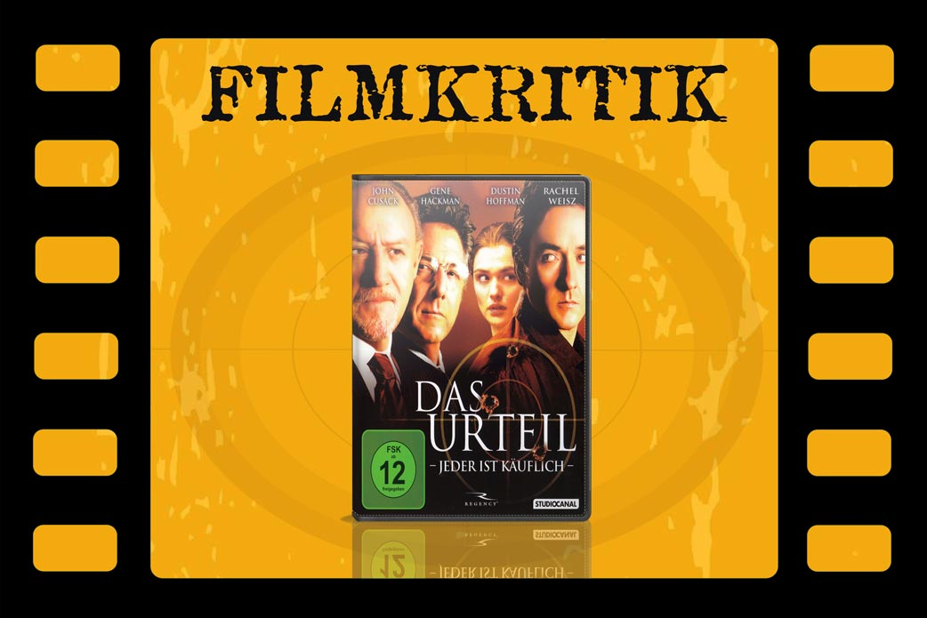 Filmkritik Das Urteil mit DVD Cover in Filmrolle