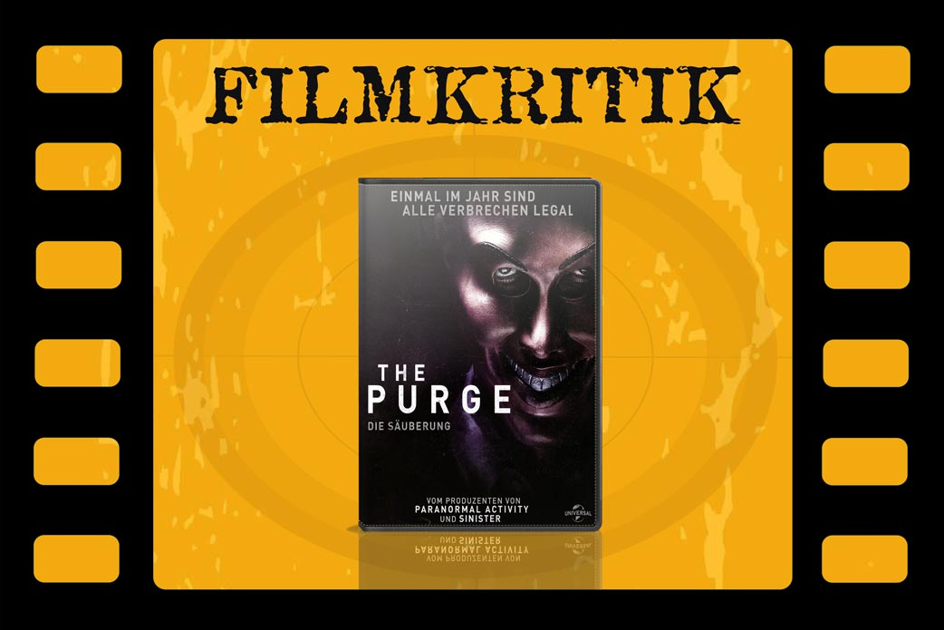 Filmkritik The Purge mit DVD Cover in Filmrolle