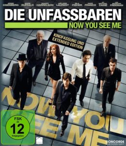 Now you see me DVD Cover mit Woody Harrelson, Isla Fisher, Mark Rufallo, Morgan Freeman, Jesse Eisenberg