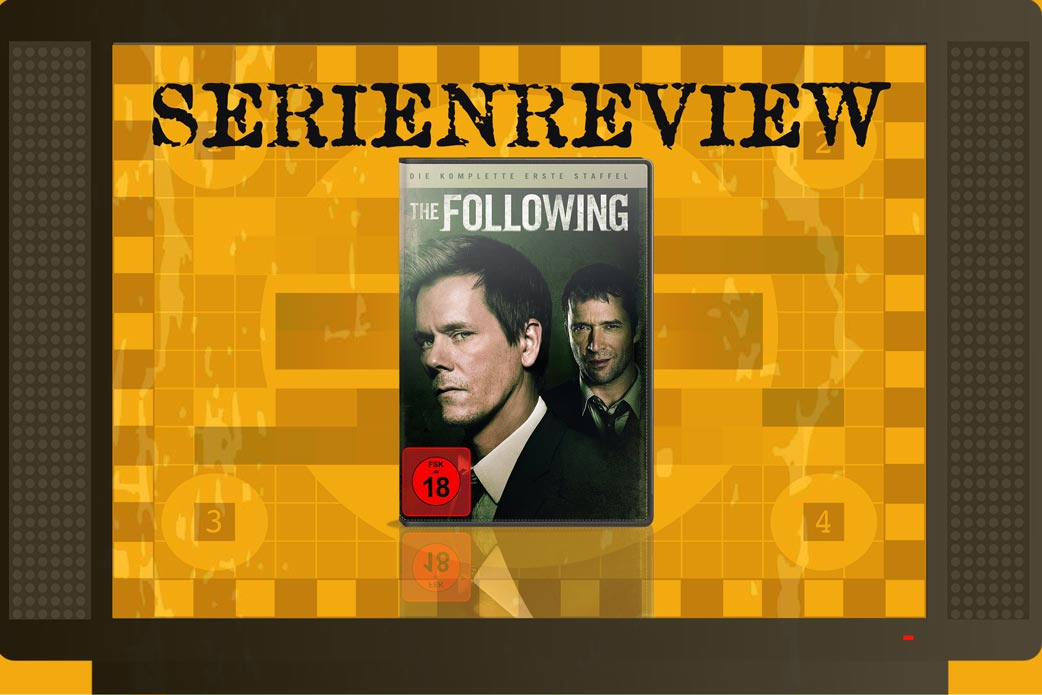 Serien-Review The Following Staffel 1 mit DVD Cover in Fernseher