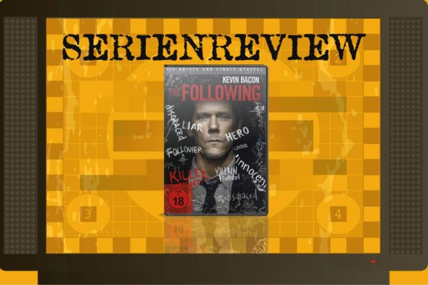 Serien-Review zu The Following Staffel 3 mit DVD Cover in Fernseher