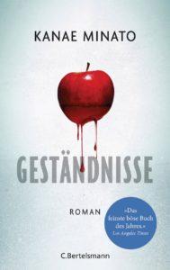 Cover von Geständnisse von Kanae Minato mit rotem blutenden Apfel