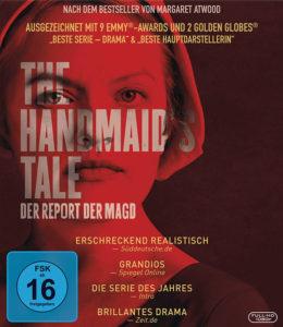 Cover von The Handmaid's Tale mit Pressestimmen