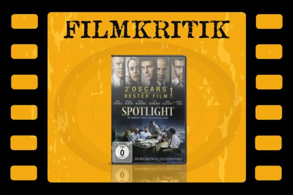 Filmkritik Spotlight mit DVD Cover in Filmstreifen