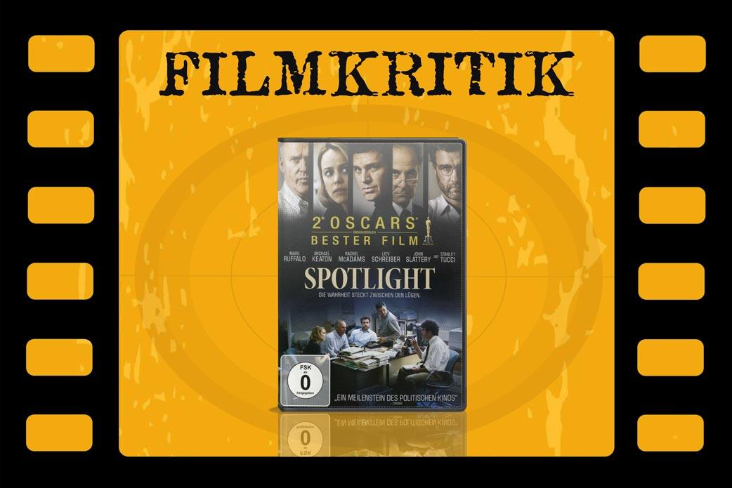 Filmkritik Spotlight mit DVD Cover in Filmstreifen