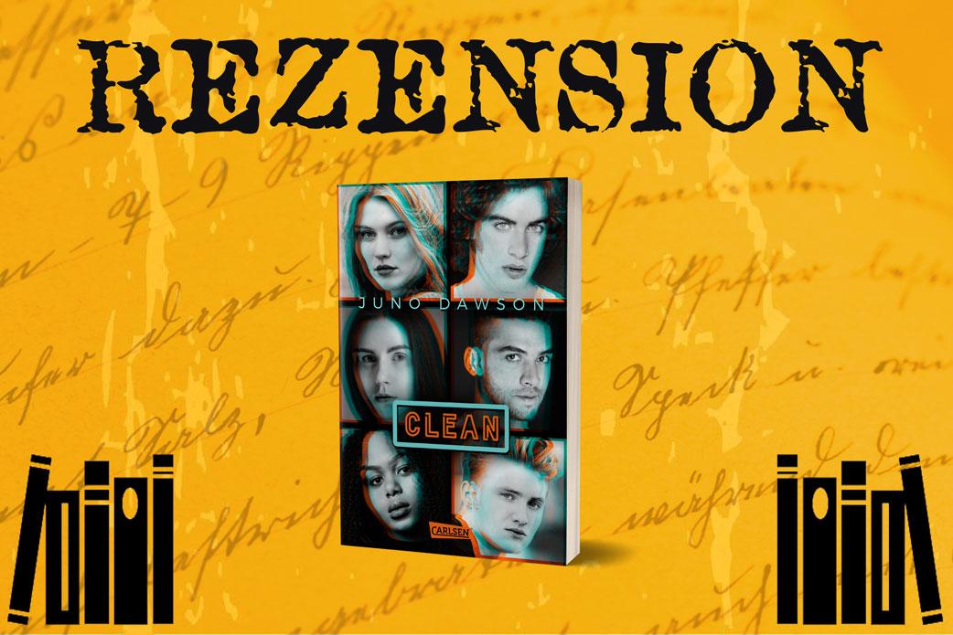 Rezension Clean von Juno Lawson mit Buchcover auf orangenem Hintergrund