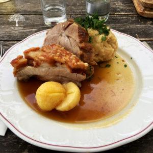 Schweinebraten vom Gasthof Stadtalm in Salzburg